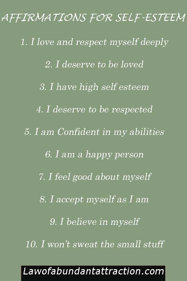 Self Esteem Affirmations